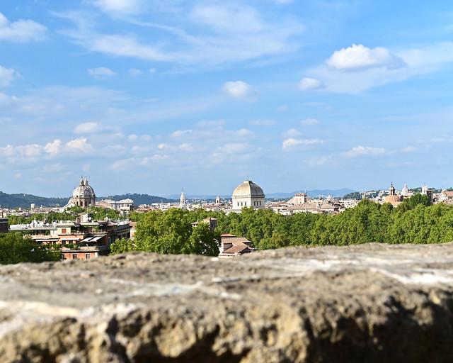 Vistas desde el mirador del Giardino degli Aranci en Roma