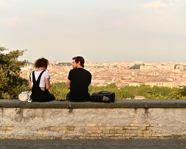 Mirador del Gianicolo en Roma
