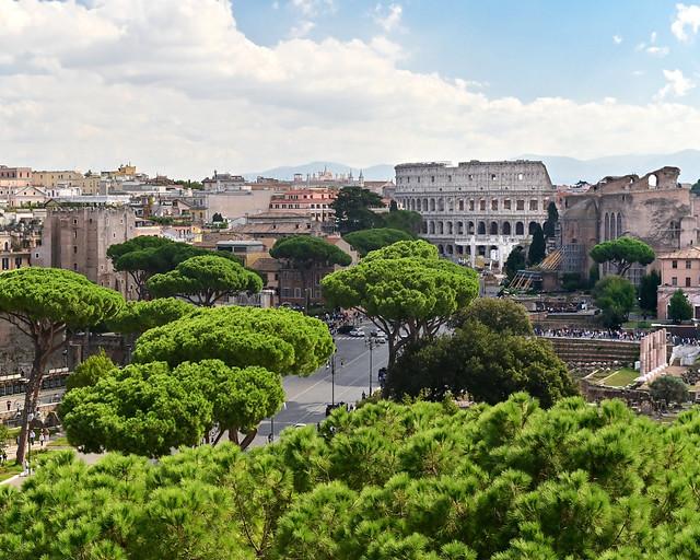 Vistas desde el Monumento de Vittorio Emanuele