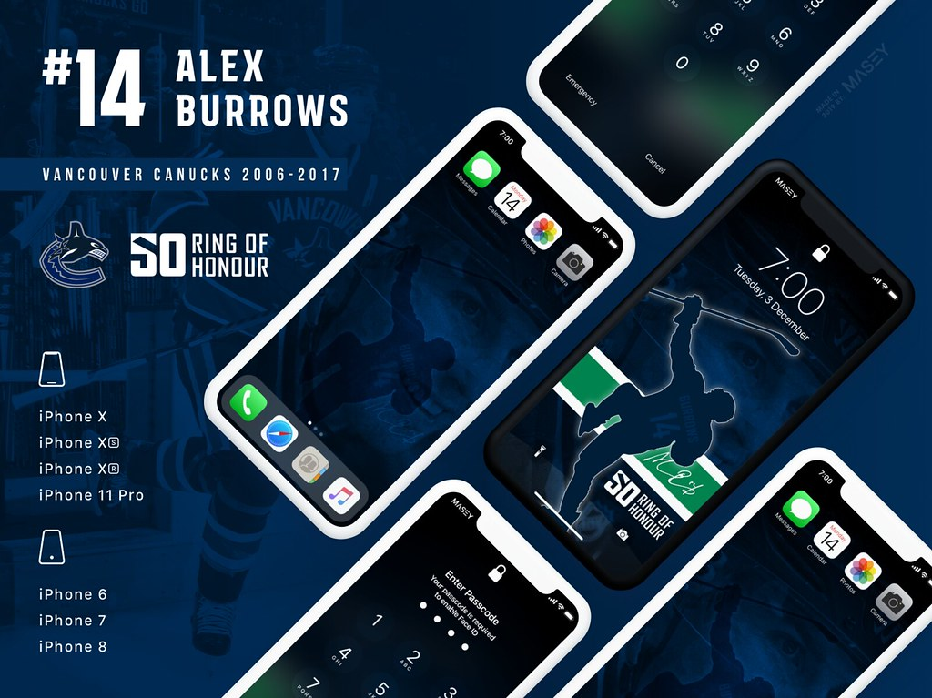 Alex Burrows (Vancouver Canucks Ring of Honour) iPhone Wallpaper