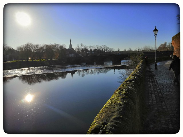 River dee Chester morning 3 Dec 2019