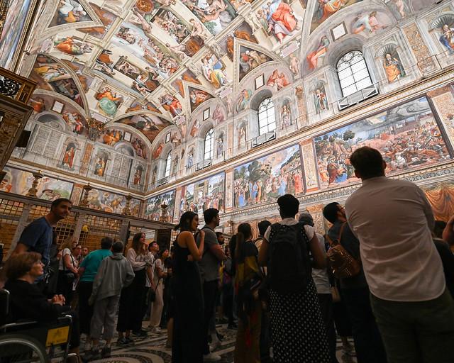Interior de la capilla Sixtina