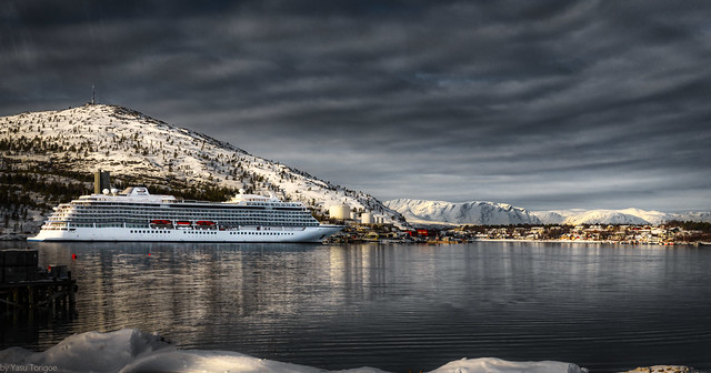 Viking Sky cruise ship docked in Alta, Norway-38A