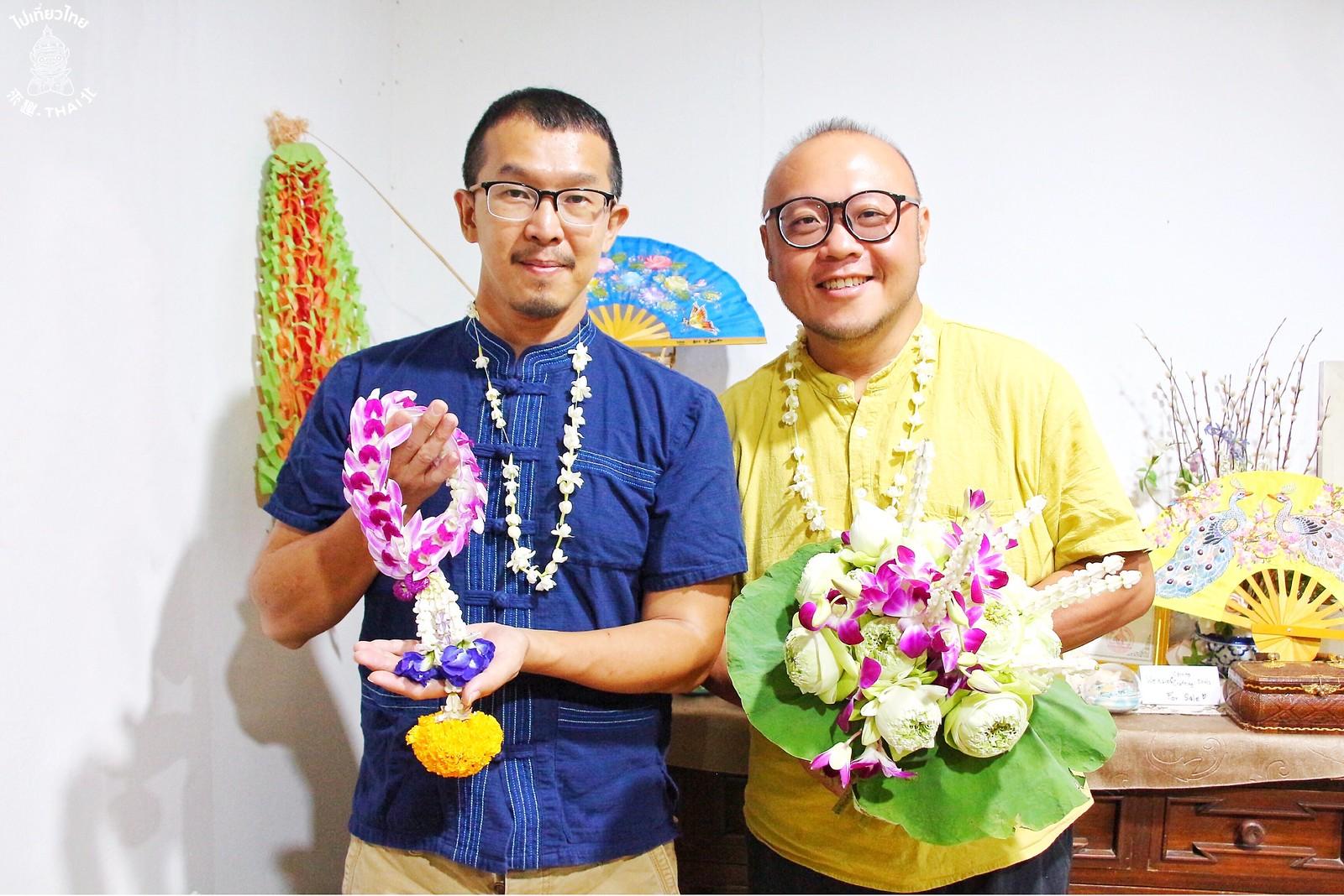傳統的泰國手工花藝