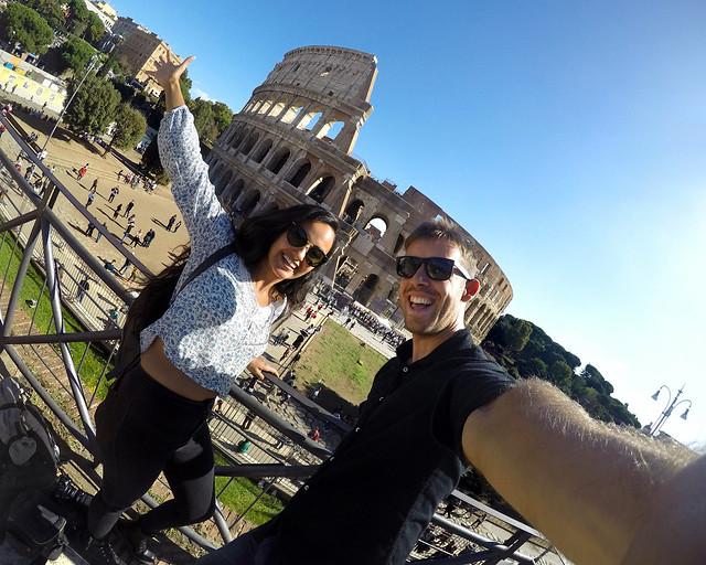 Uno de los mejores miradores de Roma para ver el Coliseo