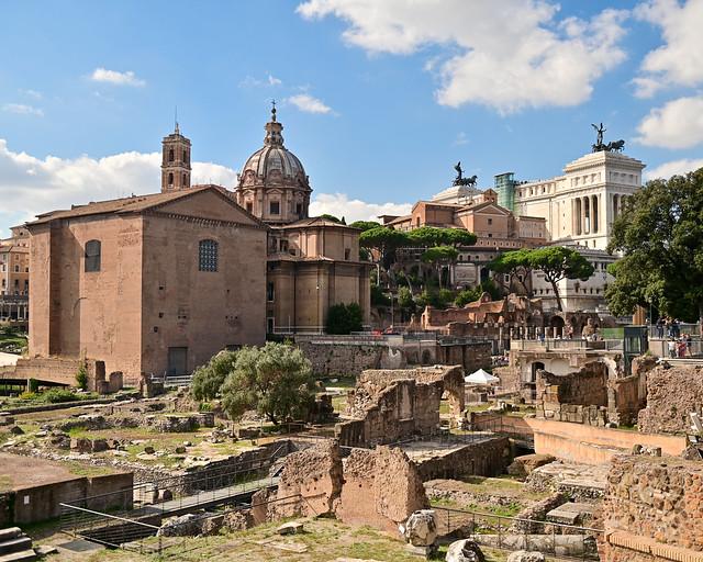 Vistas del foro desde Via dei Fori Imperiale