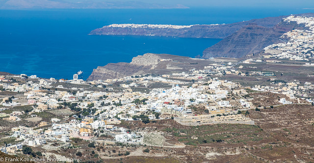 View of Santorini from the Monastery