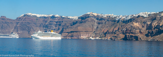View of Thira from the ferry