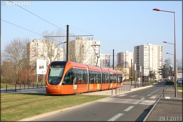 Alstom Citadis 302 – Setram (Société d'Économie Mixte des TRansports en commun de l'Agglomération Mancelle) n°1006 (La Chapelle-Saint-Aubin)