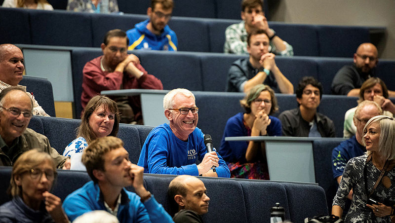 Audience members at a Minerva lecture