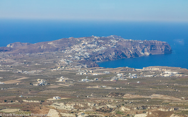 View of Santorini from the Monaster