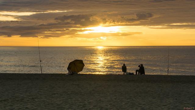 Sunrise, Lever du soleil, Torremolinos, Costa Del Sol, Espagne, Spain - 2842