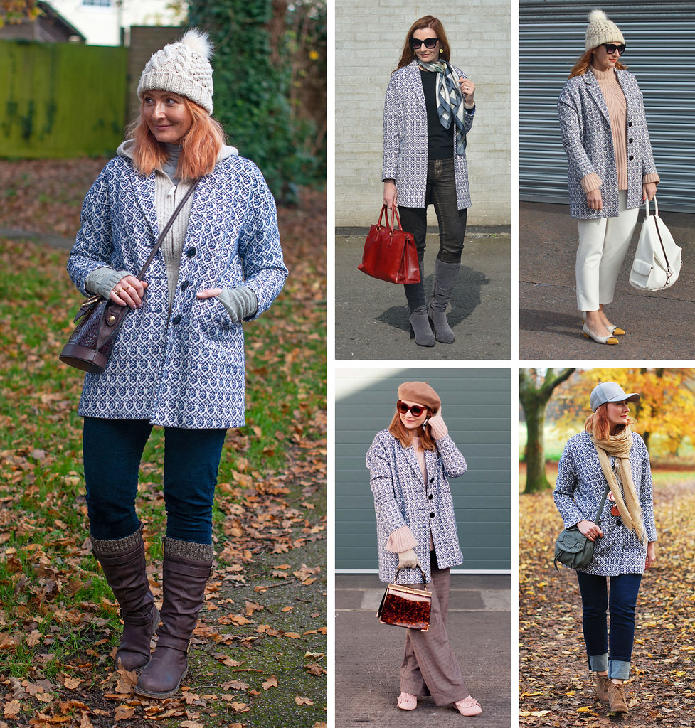 5 Ways to Wear a Jacquard Coat | Not Dressed As Lamb, Over 40 Style