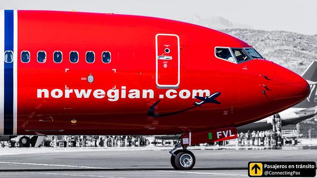 Boeing B737 Norweigian EI-FVL