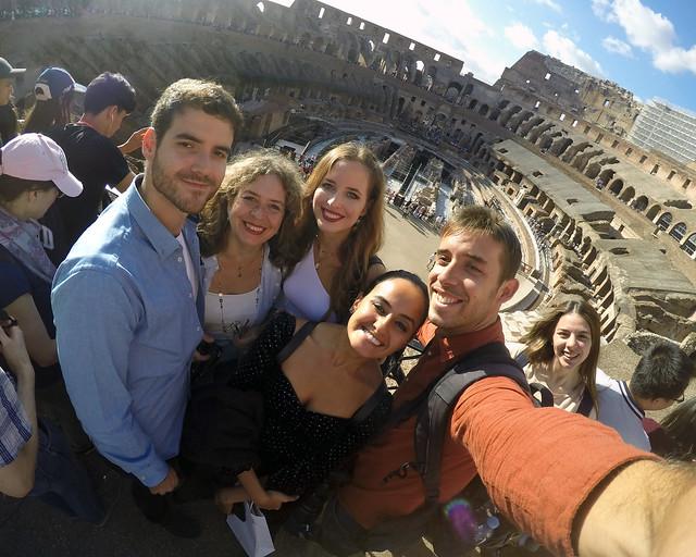 En el Coliseo durante nuestro itinerario de 4 días por Roma
