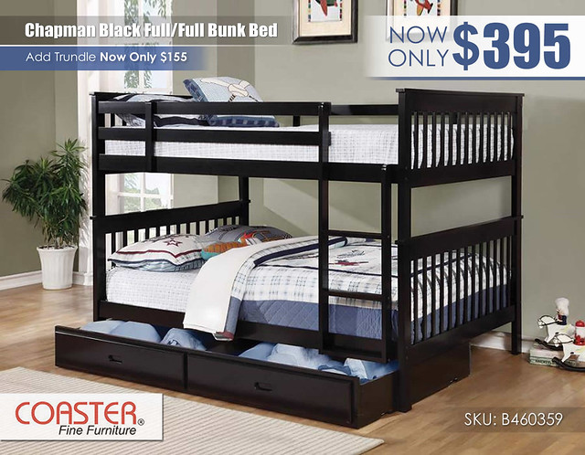 Chapman Black FF Coaster Bunk Bed_460359