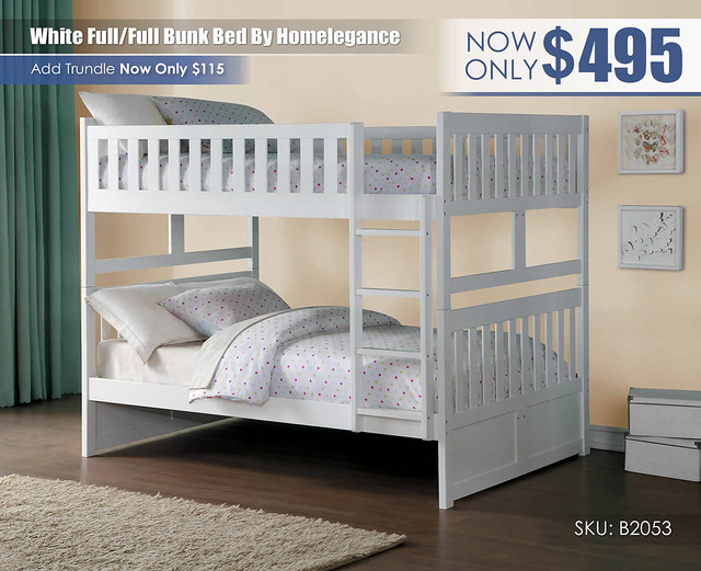 White Homelegance FF Bunk_B2053