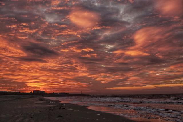 Nach dem eigentlich recht unspektakulären Sonnenuntergang...
