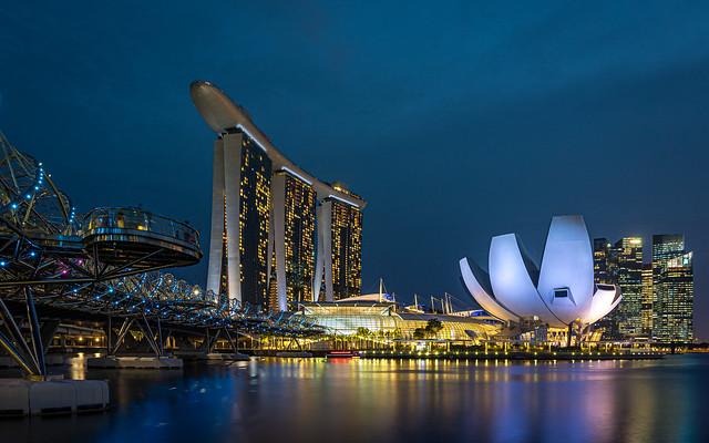 Blue Hour of Marina Bay Sands