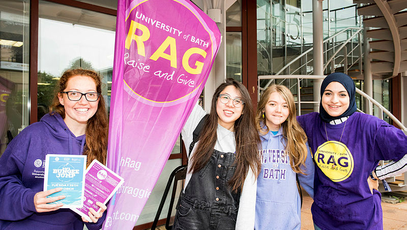 The University Raise and Give volunteers