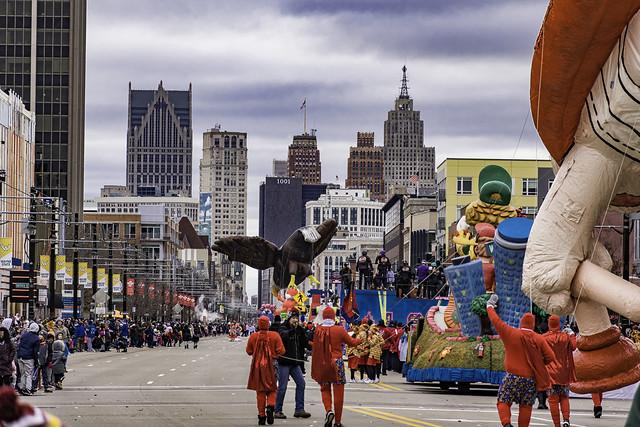 Thanksgiving in Detroit, parade