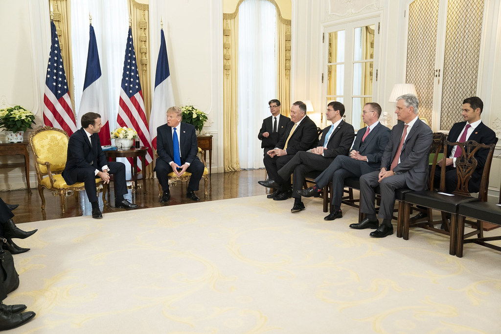 President Trump Meets with the President of France
