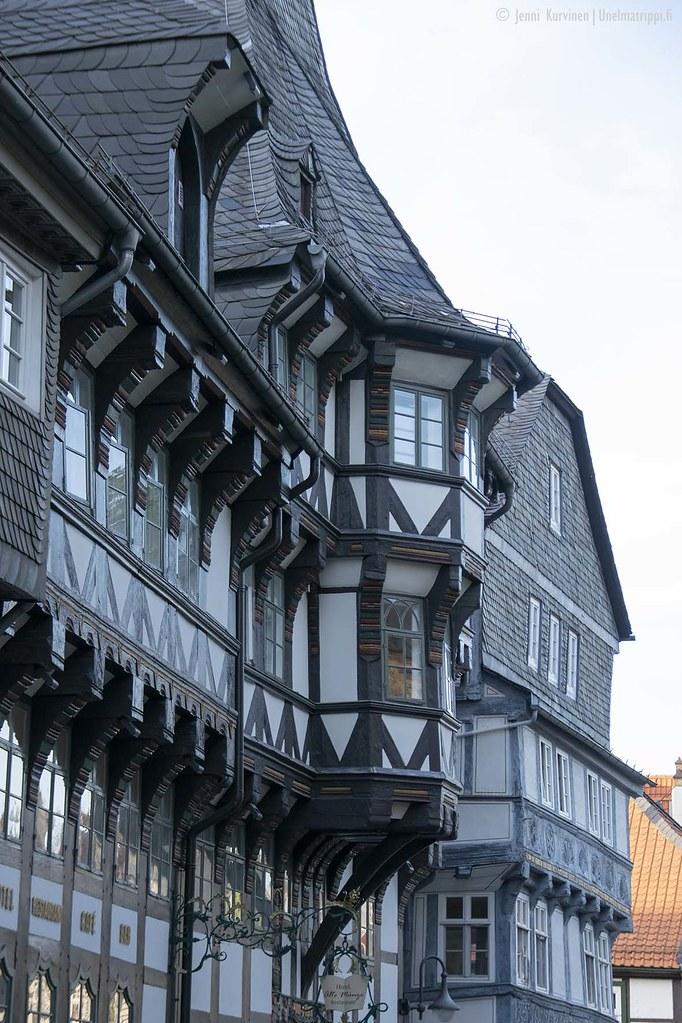 Goslarin ristikkotalot ovat upeita