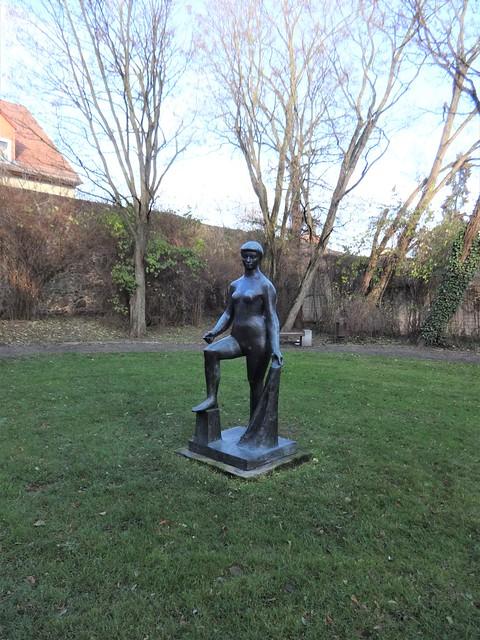 1958 Bernau Große Schwimmerin von René Graetz Bronze Alte Goethestraße in 16321