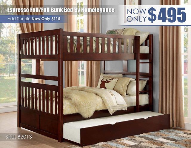 Espresso Homelegance FF Bunk Bed_B2013