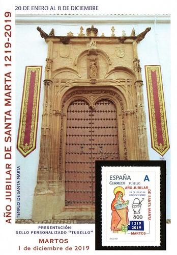 Postal. Sello de Santa Marta 2019