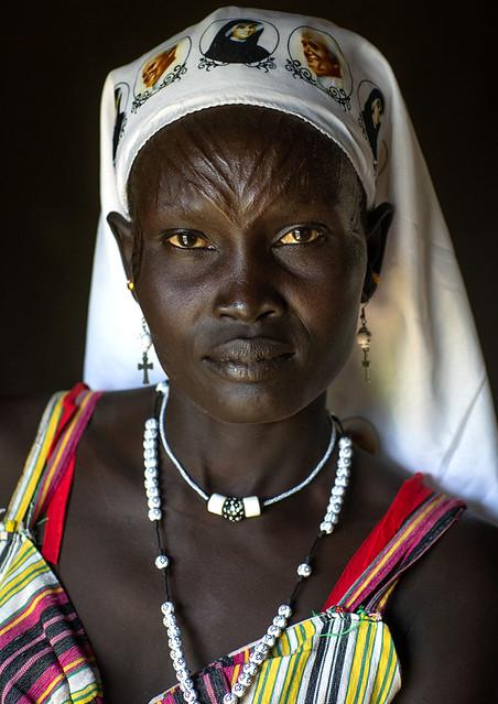 Mundari tribe nun, South Sudan