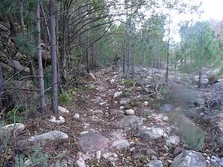 Le sentier dans le final du PR2