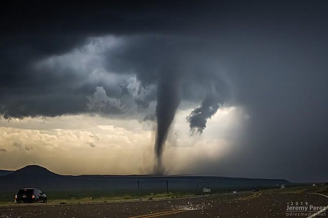 17 May 2019 — Ft. Stockton, TX — Tornado and Exploding Hailstone