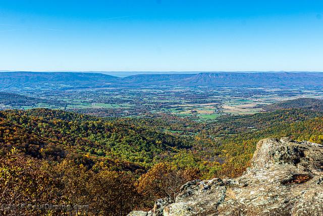 Massanutten Mountain & Stanley in Shenandoah Valley @ Franklin Cliffs Overlook - Mile 49, Skyline Drive, Shenandoah National Park, Stanley, VA