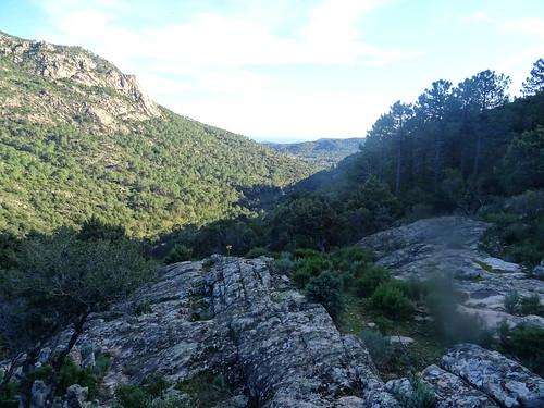 La vallée du Cavu aval depuis le plateau de Ranedda