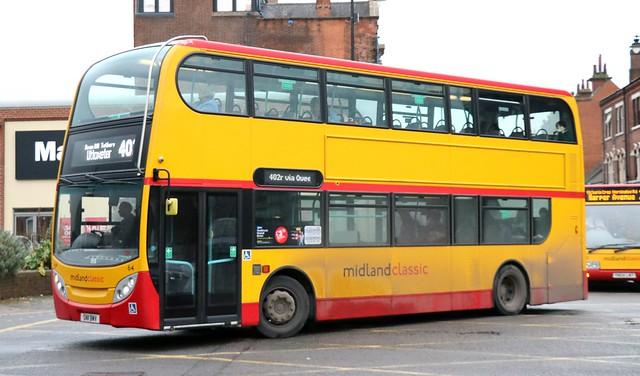Midland Classic 64 SN11BMV working Burton upon Trent area services