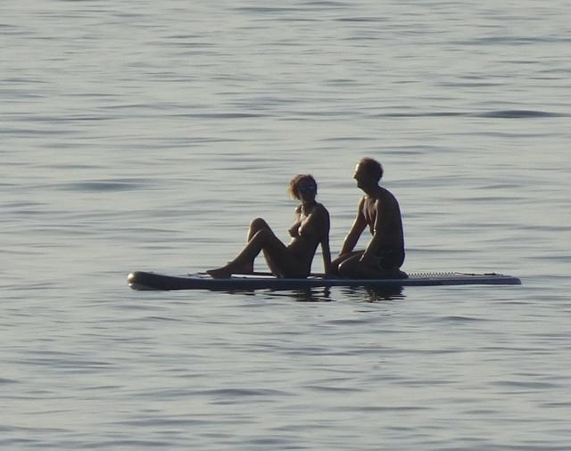 Couple afloat