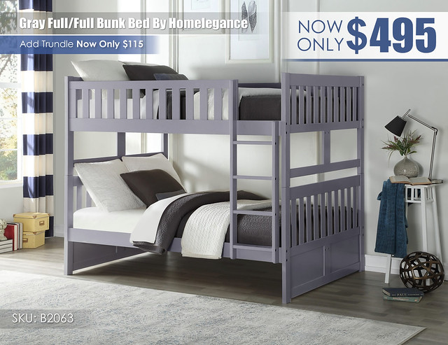 Gray Homelegance FF Bunk_B2063
