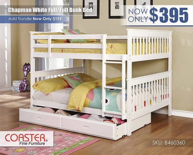 Chapman White FF Coaster Bunk Bed_460360