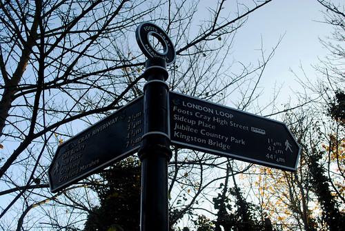 Foots Cray Meadows London Loop sign