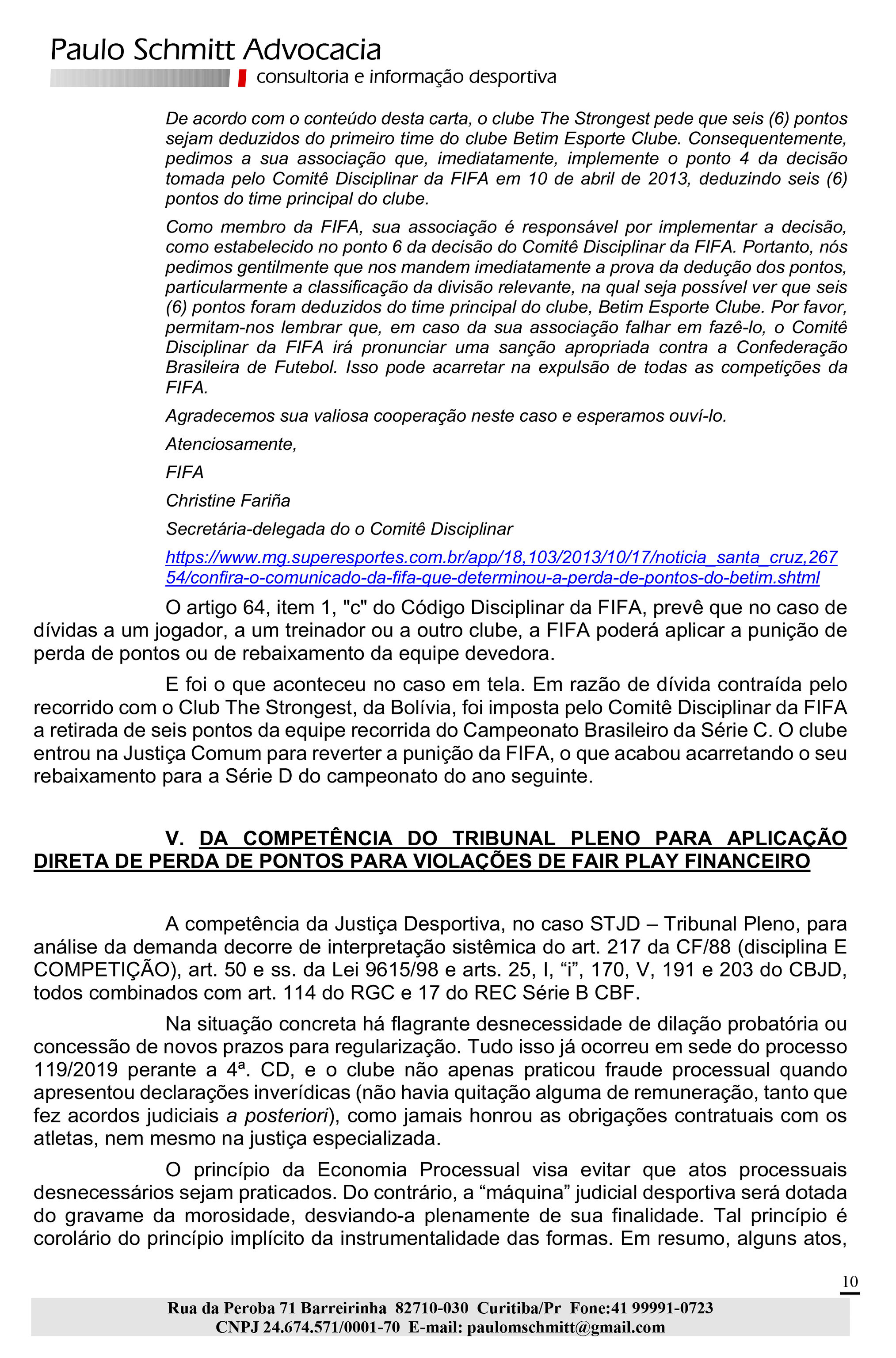 Microsoft Word - Londrina Medida Inominada - STJD 02dez2019.docx