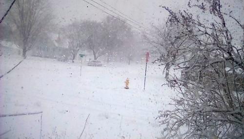 First blizzard of the season! Menominee Michigan