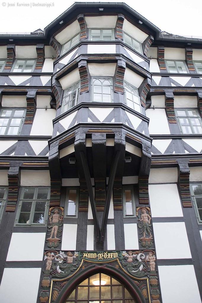 Ristikkotalon yksityiskohtia, Goslar