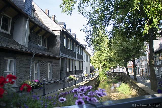 Viehättävää kanavarantaa Goslarissa