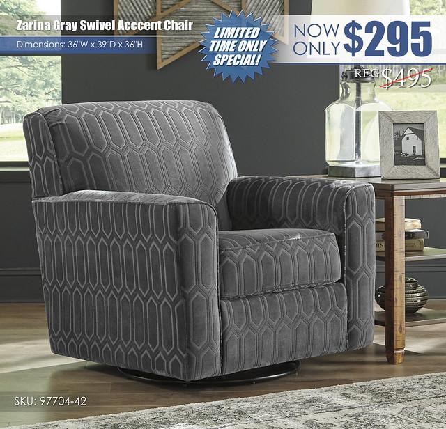 Zarina Gray Swivel Accent Chair_97704-42