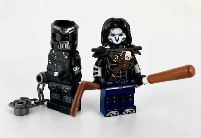 The Nightwatcher and Casey Jones from TMNT 2007 LEGO Minifigures