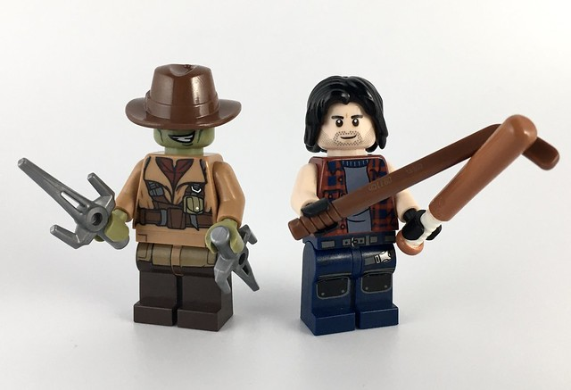 Raphael Incognito and Casey Jones LEGO Minifigures