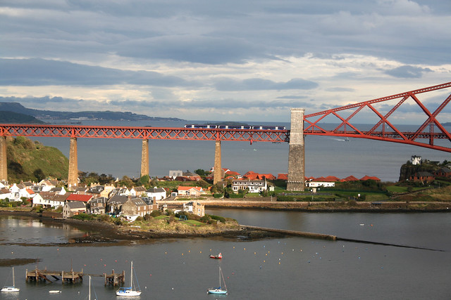 The Forth Rail Bridge from the Forth Road Bridge