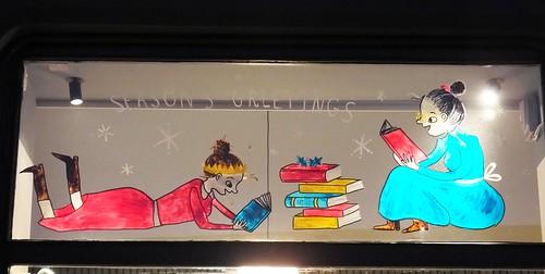 Christmas Window at the Portobello Bookshop 04