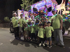 Hawaiian Electric at the West Oahu Electric Light Parade — Nov. 30, 2019: One last photo opportunity in front of the beautiful float before the night ended.